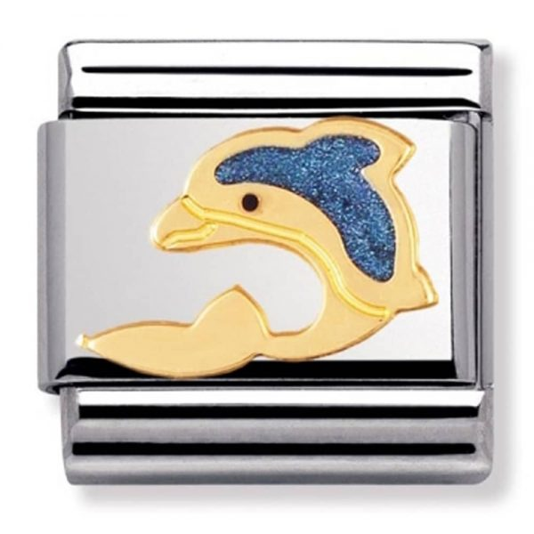 Nomination Charm. ClassicGold Dolphin Charm 030213/01