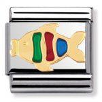 Nomination Charm. ClassicGold Fish Charm 030213/02