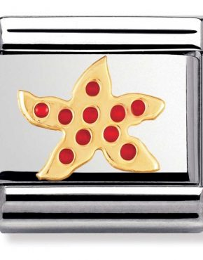 Nomination Charm. ClassicGold Starfish Charm 030213/05