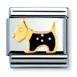 Nomination Charm. Classic Gold Scottish Terrier Dog Charm 030248/09