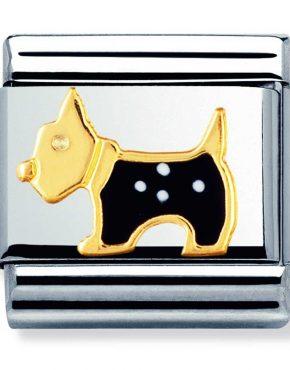 Nomination Charm. ClassicGold Scottish Terrier Dog Charm 030248/09