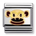 Nomination Charm. Classic Gold Monkey Charm 030248/12