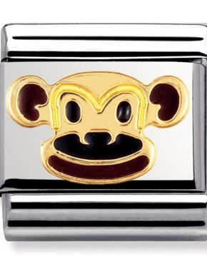 Nomination Charm. ClassicGold Monkey Charm 030248/12