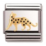 Nomination Charm. Classic Gold Leopard Charm 030248/16
