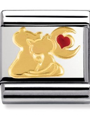 Nomination Charm. ClassicGold Cats under the Moon Charm 030248/13