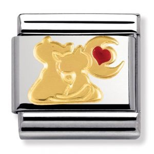 Nomination Charm. Classic Gold Cats under the Moon Charm 030248/13