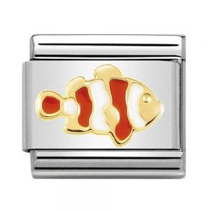 Nomination Charm. Classic Gold Clownfish Charm 030272/40