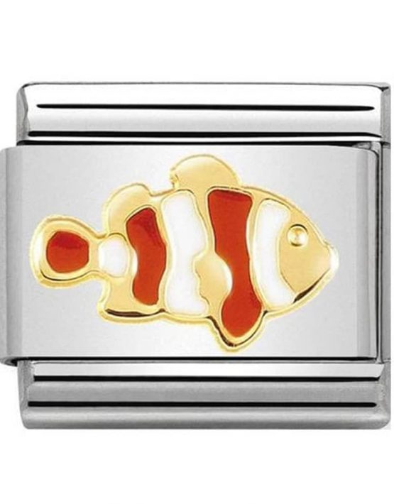 Nomination Charm. ClassicGold Clownfish Charm 030272/40
