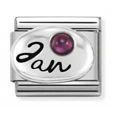 Nomination Charm Classic January Birthstone Garnet Charm 330505/01