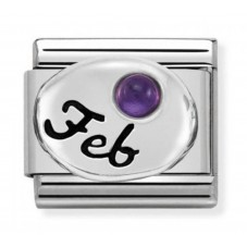 Nomination Charm Classic February Birthstone Amethyst Charm 330505/02