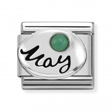 Nomination Charm Classic May Birthstone Emerald Charm 330505/05