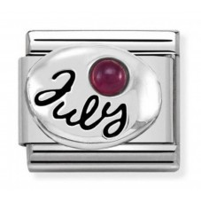 Nomination Charm Classic July Birthstone Ruby Charm 330505/07