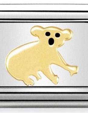 Nomination Charm. Classic Gold Koala Bear Charm 030248/17