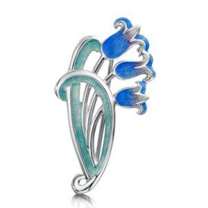 Art Nouveau Bluebell Brooch EBX241 (3 Bells)