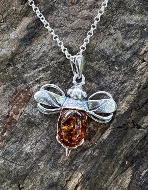 Amber Small 'Messenger of Love' Bee Pendant (ACSMSMBEEP731)