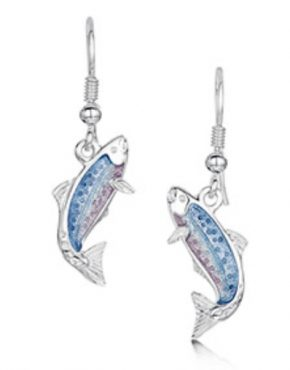 Fishing for Salmon Silver Drop Earrings EEX255