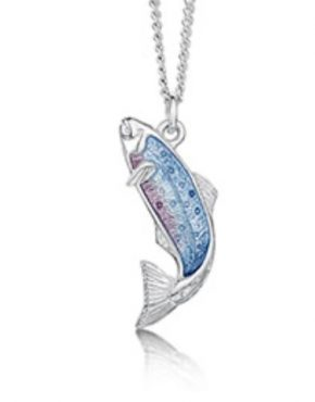 Fishing for Salmon Silver Pendant EP255