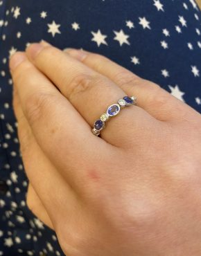 Tanzanite Eternity ring on LJ