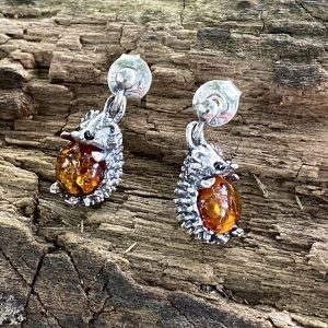 Amber Hedgehog 'Hedge-hug' Earrings (ACSMHHOGEAR)