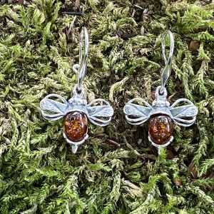 Amber 'Messenger of Love' Bee Drop Earrings (ACSMBEEDE1031)