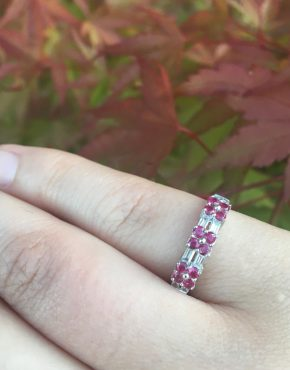 Ruby Flowers Ring