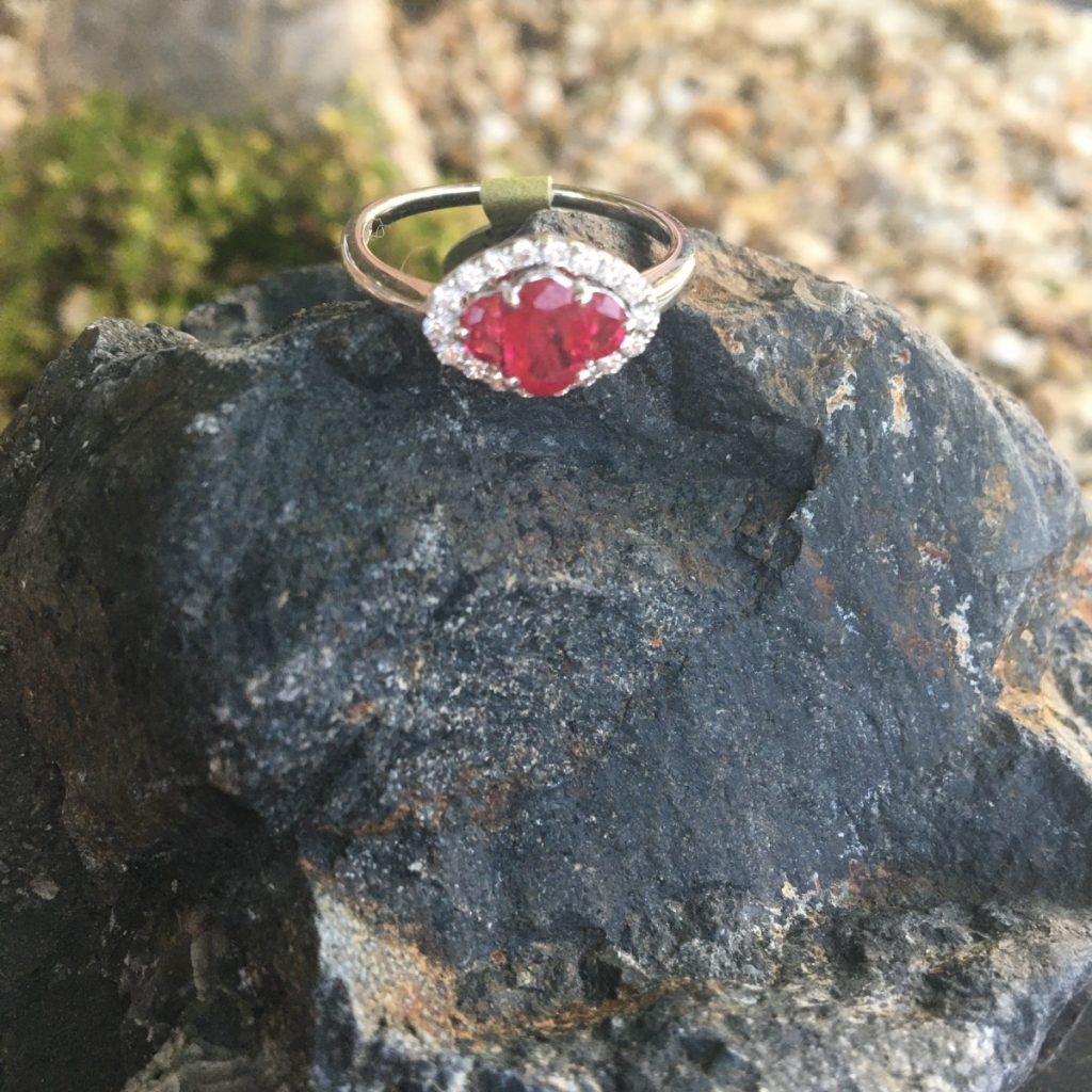 Ruby Trilogy Ring