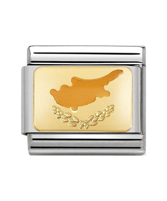 Nomination Charm. ClassicGold Cyprus Charm 030234/49