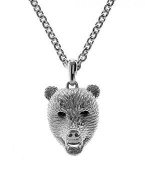Dionysus Bear Pendant Silver Finish SHJ182-03-03