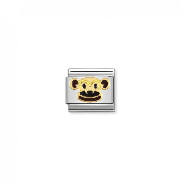 Nomination ClassicGold Monkey Charm 030248/12