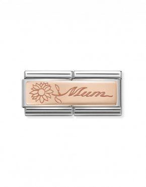 Nomination Classic Rose Gold Mum Double Charm 430710/18