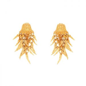 Dionysus Bear Earrings Gold Finish SHJ180-09-03
