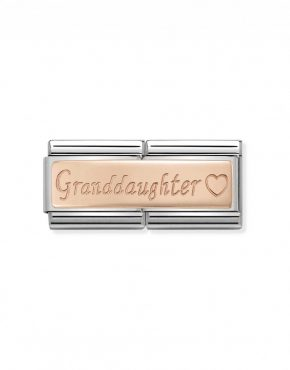 Nomination Classic Rose Gold Granddaughter Double Charm 430710/09