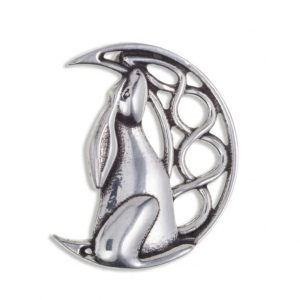 Moon Gazing Hare Brooch ACPB818