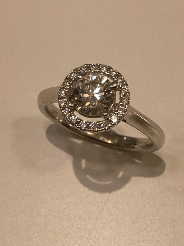 Round Brilliant Diamond Solitaire with Halo ACV041/11