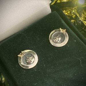 Cat and Golden Butterfly Studs ACNH57