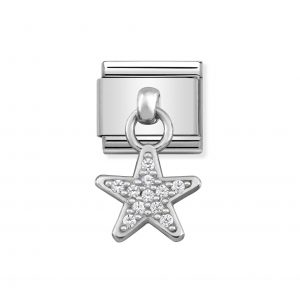 Nomination Classic Silvershine Star with CZ Charm 331800/05
