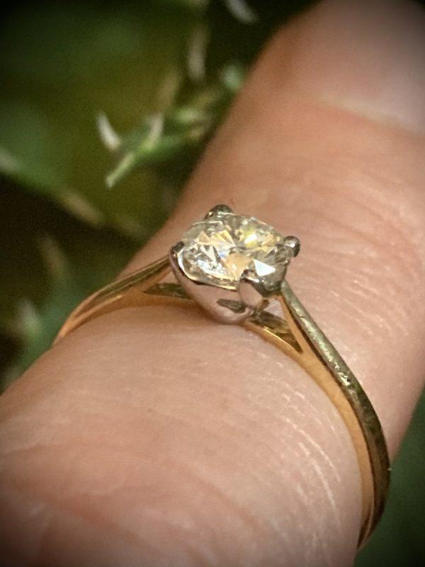 Diamond Round Brilliant 1/2 Carat Solitaire Ring ACV027-1.