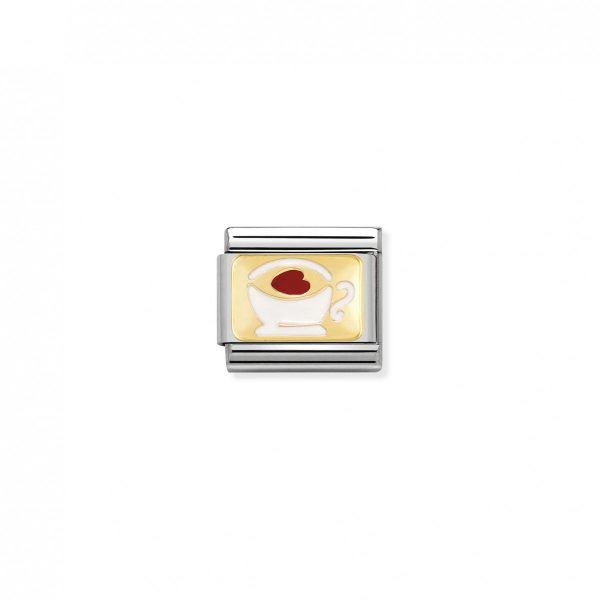 Nomination Classic Gold Tea Cup Charm 030284/02