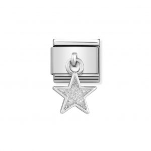 Nomination Classic Silvershine Star with Glitter Charm 331805/02
