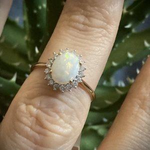 Oval Opal 1.90ct & Diamond 0.26ct Ring ACTHRD2890