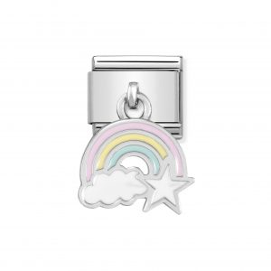 Nomination Classic Silvershine Rainbow with Cloud & Star Charm 331805/17