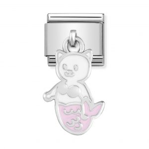 Nomination Classic Silvershine Pink Mermaid Cat Charm 331805/16