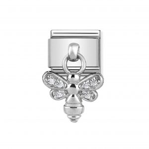 Nomination Classic Silvershine Bee with CZ Charm 331800/15