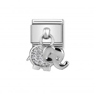 Nomination Classic Silvershine Elephant with CZ Charm 331800/17