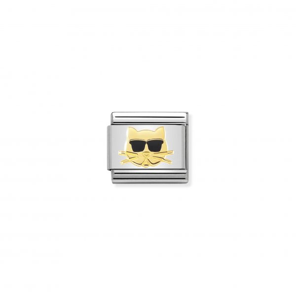 Nomination ClassicGold Cat with Sunglasses Charm 030272/44