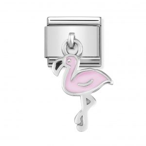 Nomination Classic Silvershine Pink Flamingo Charm 331805/12