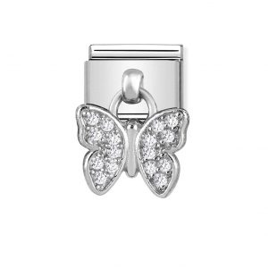 Nomination Classic Silvershine Butterfly with CZ Charm 331800/16