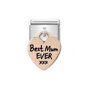 Nomination Rose Gold Best Mum Ever XXX Charm 431802/01
