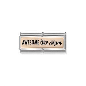 Nomination Rose Gold Awesome Like Mum Double Charm 430711/01
