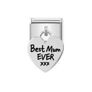 Nomination Silvershine Best Mum Ever XXX Charm 331811/01